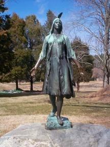Pocahontas statue at jamestown